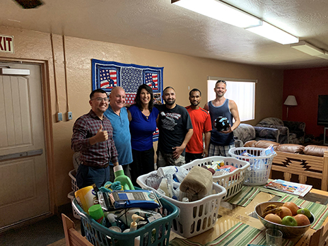 Yuma, AZ Guild Mortgage team with donated items